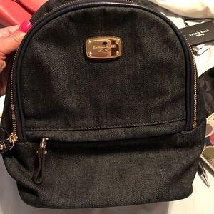 Michael kors small denim backpack